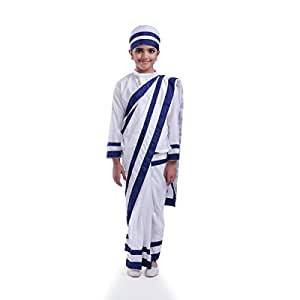 Fancydresswale Mother Teresa Costume White (3-5 yrs)
