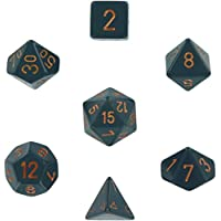 Polyhedral 7-Die Opaque Dice Set - Dark Gray with Copper [Toy]