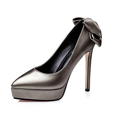Talloni delle donne Primavera Estate Autunno Inverno Altro PU Wedding ufficio & carriera Party & Sera Stiletto Heel Tassel Light Grey