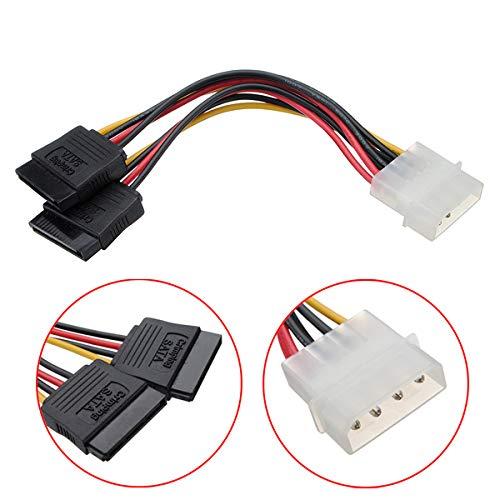 4 Pin IDE Molex zu ATA SATA Y Splitter Festplatte NetzteilKabel