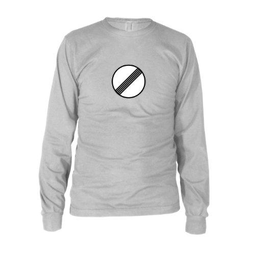 Geschwindigkeitsbegrenzung aufgehoben - Herren Langarm T-Shirt T-Shirt Weiß