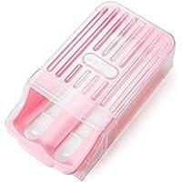B & Y congelatore Frigorifero Storage plastica Egg holder-12-egg capacità rosa