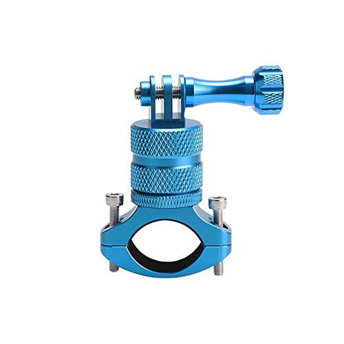 LiDCH - Supporto da Bicicletta per GoPro Hero 7, 6, 5, 4, 3+, 3, 2, 1, Rotazione a 360 Gradi, Supporto in Metallo per Fotocamera SJCAM Canon, Nikon, Sony e Altre Fotocamere, LiD-GP63B-blu, Blue