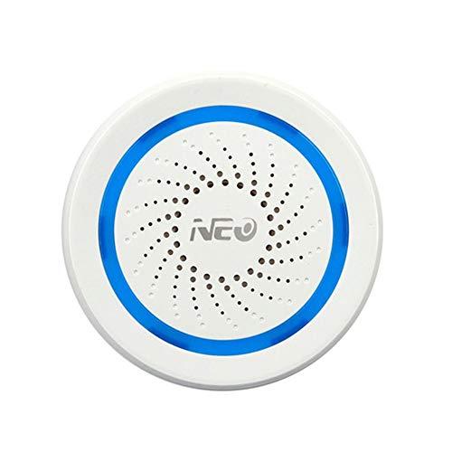 NEO Coolcam Z-Wave Plus - Sirena de alarma con puerto de carga USB