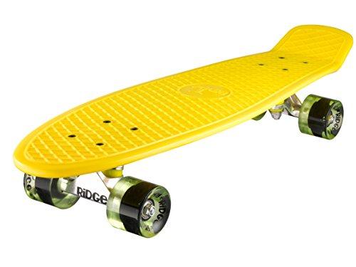Ridge Skateboard Big Brother Nickel 69 cm Mini Cruiser, gelb/klar grün (Skateboard Von Bam Margera)