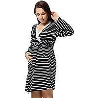 GRACE KARIN Camisón de Lactancia Maternidad de Noche Vestido Mujeres Embarazadas Ropa de Dormir Premamá Bata