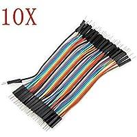 Bloomgreen Co. genéricos 400Pcs 10 cm macho a macho cable de puente para Arduino de una pieza