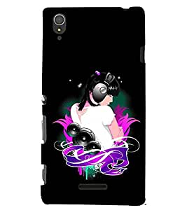 PRINTSWAG MUSIC GIRL Designer Back Cover Case for SONY XPERIA T3