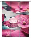 Home Fashion Digitaldruck Schiebevorhang 3er Set, Stoff, altrosé, 245 x 60 x 245 cm, 3-Einheiten