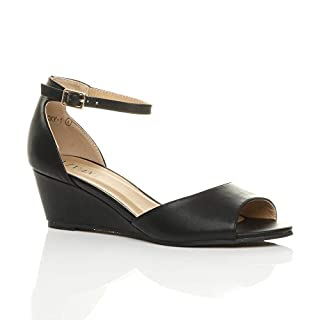 Ajvani , Damen Sandalen, Schwarz - Schwarz, matt - Größe: 35.5
