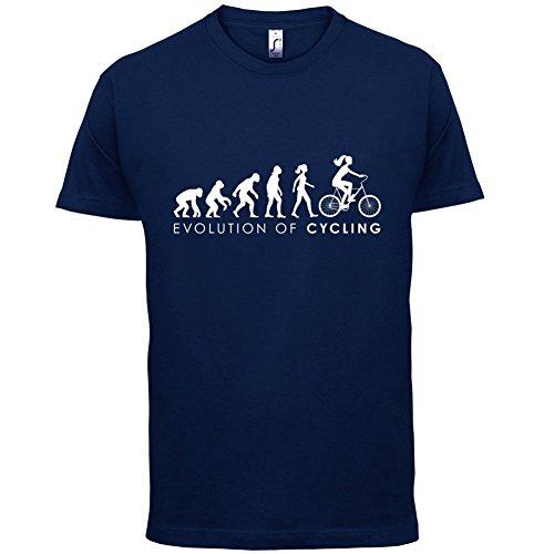Evolution of Woman - Radfahrerin - Herren T-Shirt - 13 Farben Navy