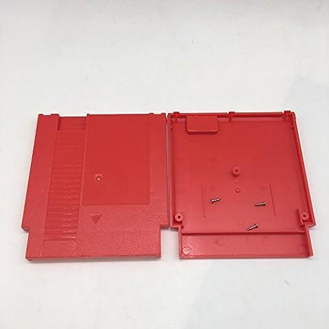 Meijunter Red Hard Case Cartridge Shell Cover étui rigide couvercle d'enveloppe de cartouche for Nintendo Entertainment System NES 72 Pin 60-72 Pin