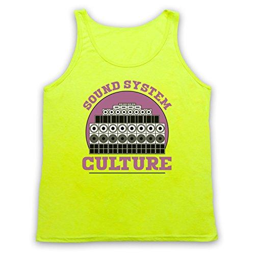 Sound System Culture Jamaican Reggae Ska Music DJs Tank-Top Weste Neon Gelb