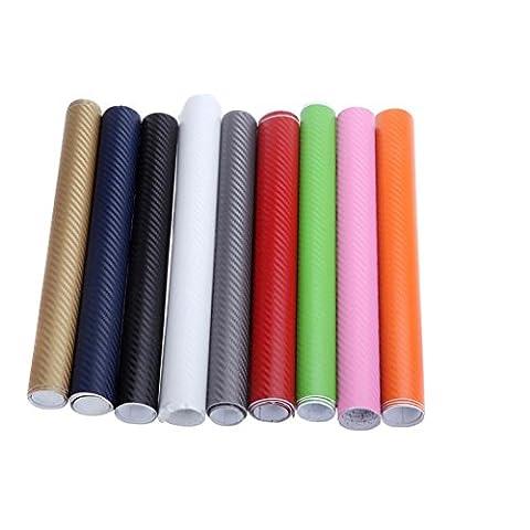 artans £ ¨ TM) 150* * * * * * * * 30cm en fibre de carbone 3D Film vinyle autocollant voiture corps intérieur Stickers Décoration rose rouge vert gris noir doré bleu blanc