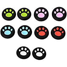 5 Color : LNOP Cat Paw Silicone Thumbstick Joystick Grip Cap Cover For PS4 3 Playstation/xbox One 360 Game Controller Controle Gamepad