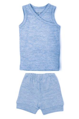 Merino Kids Lot de Pyjamas courts pour bébés de 6-12 mois, Banbury