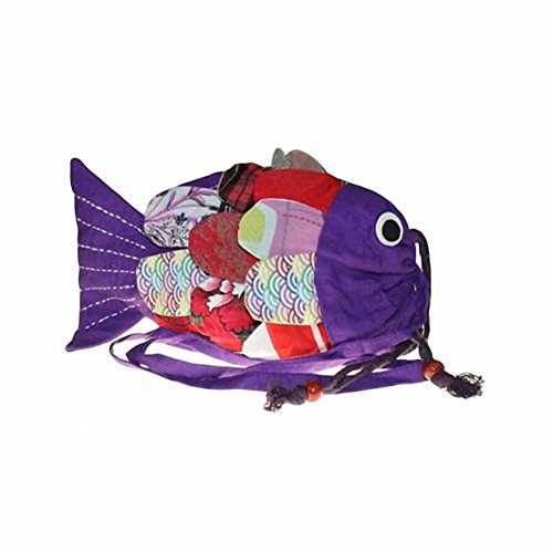 Recyceltem handgefertigt Fisch Tasche, Lila (Lila) - AWD_FISHB-03_3 Lila