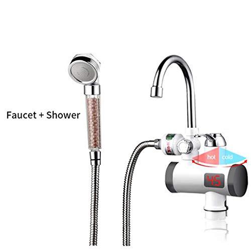 Home Küche Touch Wasserhahn Warmwasser Heizungshahn Mit Elektrische Dusche 220 V Induktionsheizung Durchlauferhitzer,2SWithShower