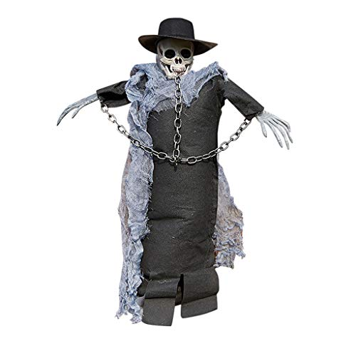Böse Vampire Skull T-shirt (Daygeve Zuhause Party Deko, Anatomische Tracing, Medizinische Lehre, Halloween Dekoration Statue,Halloween-Horror-Requisiten, die Stangen-Atmosphären-Szenen-Dekoration hängen)