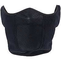 TEFITI - Pasamontañas de forro polar cortavientos para motocicleta, ciclismo, esquí, senderismo, correr, color negro (grueso), Hombre, color Negro2, tamaño talla única