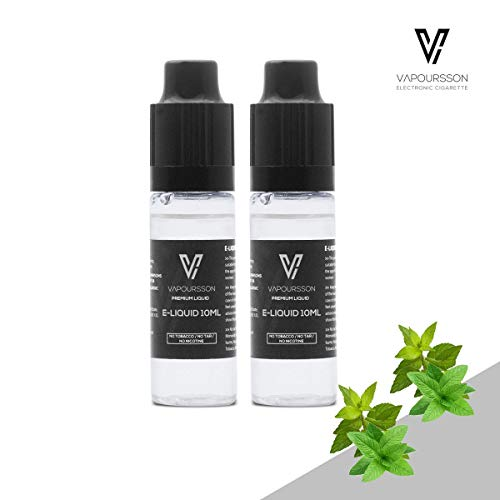 VAPOURSSON 2 X 10ml E Líquido| Doble Menta| 2 botellas