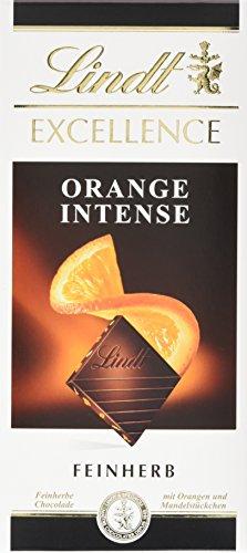 Lindt & Sprüngli Excellence Orange, 4er Pack (4 x 100 g) (Schokolade Orange Peel)
