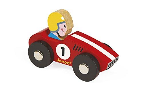 Janod - J08548 - Mini voiture en bois Story Racing - Racer (2 modèles assortis)
