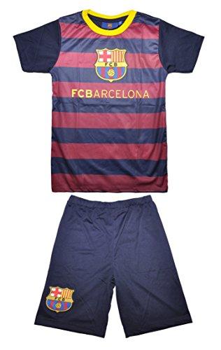 odukt Barcelona FCB Jungen Mädchen Fußball Training Set 2-teilig Shorts & Top Set | Messi Neymar Suarez, design 3 (Mädchen-fußball-kostüme)