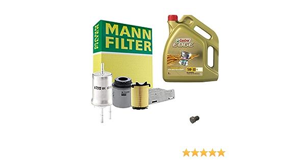 Inspektionspaket Mann Filter 5l Castrol Edge 5w30 Filterset Service Set Set P H 05 00116 Service Wartung Auto
