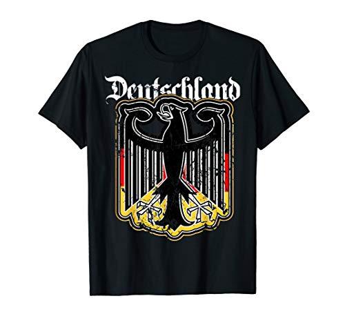 Deutschland Adler Wappen Fahne Retro Vintage Herren Damen T-Shirt