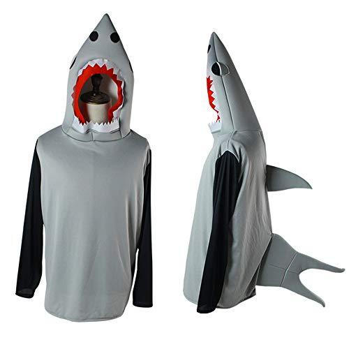 ns Halloween Shark Anzug Kostüm Cosplay Kostüm für Halloween-Party, Maskerade, Bühnen-Performance-Geschenke Cosplay Requisiten (Farbe : Photo Color, größe : One size) ()