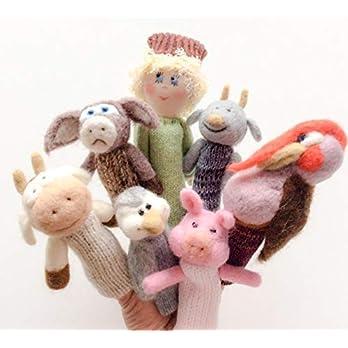 """Fingerpuppentiere  """"Der Bauernhof"""" – aus gefilzter Wolle."""