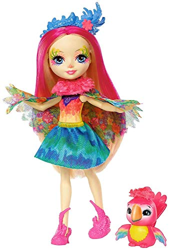 Enchantimals Muñeca con mascota Peeki Parrot (Mattel FJJ21)