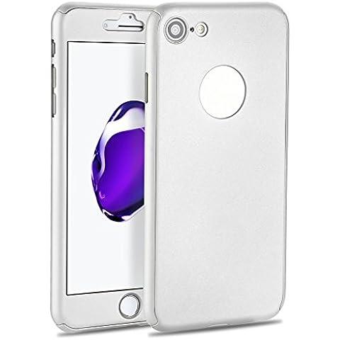 iMusi iPhone 7 Dünnen Hülle, Vollschutzhülle für Apple iPhone 7 mit Gehärtetes Glas - (Compleanno Speciale Piastra)