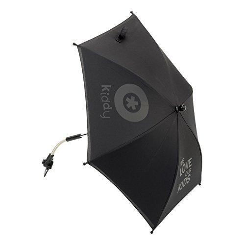 Preisvergleich Produktbild Kiddy 41615KU077 Parasol Sonnenschirm, UV-Schutz, Racing Black (schwarz)