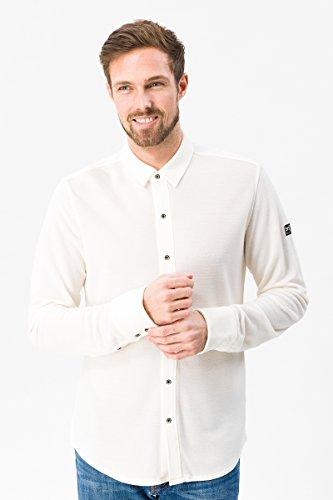 super.natural Herren Langarm-Polo-Hemd, Mit Merinowolle, M PIQUET SHIRT, XL, Weiß Preisvergleich