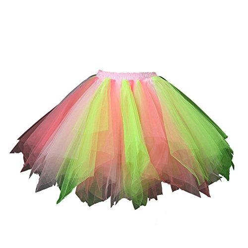 Honeystore Damen's Tutu Unterkleid Rock Abschlussball Abend Gelegenheit Zubehör Kelly Rosa und Korallen A520626120110