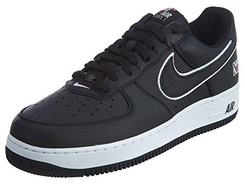 Nike Air Force 1 Low Retro NYC - 845053-002 - black, black-white-varsity red