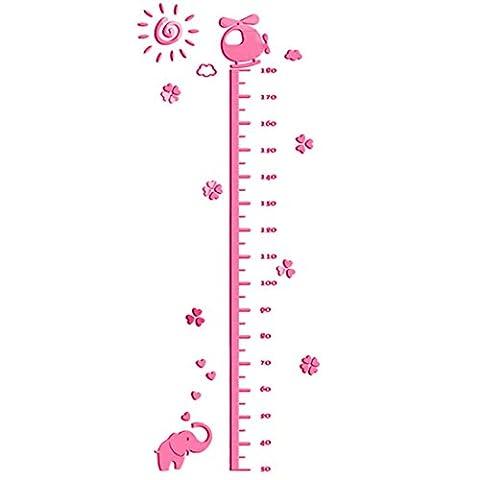 Enerhu 3D Cartoon Kids Growth Chart Sticker Acrylic Height Chart