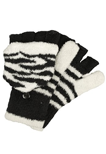 Capelli New York Handschuhe 'TIGER STRIPES' black combo, One (Handschuhe Tiger Print)