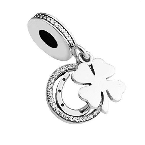 Funshopp spring collection good lucky day diy adatto per originale pandora braccialetti con pendenti chiaro cz 925argento moda gioielli