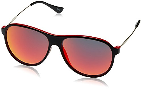 IDEE Aviator Sunglasses (IDS1958C6SG|57|Black and Red ) image