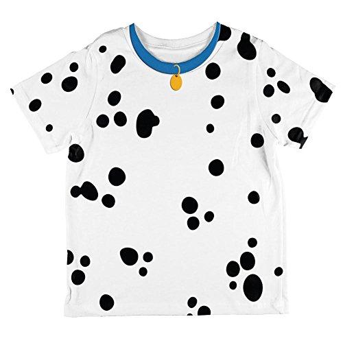 Unbekannt Dalmatiner Hund Kostüm Blue Collar Aller Kleinkind T Shirt Multi 6 t (Dalmatiner Kostüm Für Kleinkind)