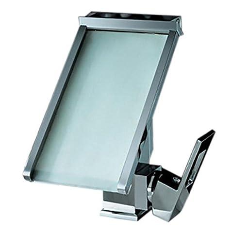 3 Farben geändert Led Wasserhahn Temperatursensor Wasser-angetriebene Led Hahn Badezimmer Wasserfall Waschbecken Mischbatterie