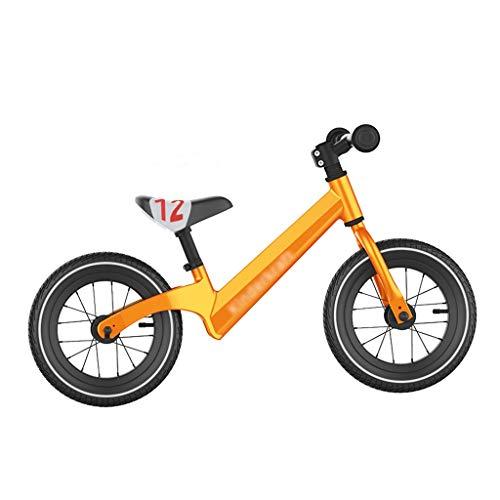 Klappräder Kinder Laufrad Freestyle Roller Kinder Classic Roller Athletic Balancer Gummirad (Color : Orange, Size : 12inch)