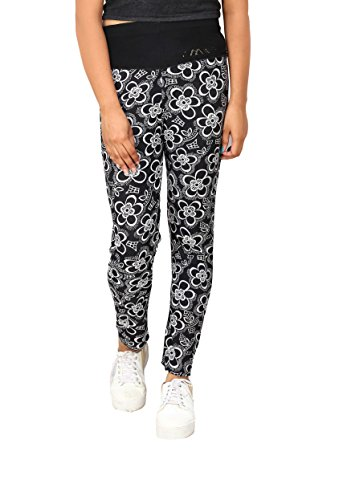 A and I Flowers Printed Lycra Multicolor Ankle Length jagging For Women/Girls  available at amazon for Rs.499