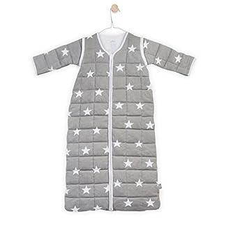 41HlX83mWxL. SS324  - Jollein 016-541-64966Saco de dormir para las 4estaciones para Little Star con mangas desmontables, 90cm, Gris