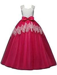 Longra Vestito in Pizzo da Bambino Ragazza Elegante Costume da Principessa  Tutu Partito Compleanno Bambini Vestito Carnevale Cosplay… 48100a71719