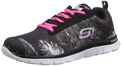 skechers-flex-appeal-trade-winds-zapatillas-para-mujer-color-negro-bkhp-talla-36