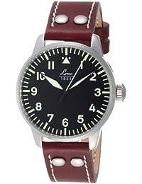 Laco Augsburg 861688  - Reloj automático de cuarzo para caballero, esfera piloto Alemán tipo A, correa de piel color marrón